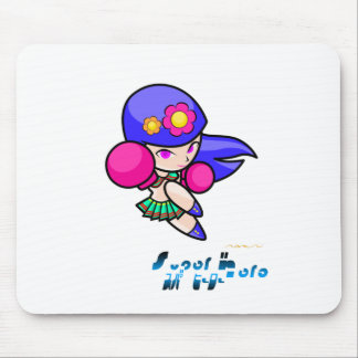 Super Hero - Punch Girl Mouse Pad