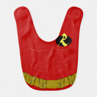 Super Hero Side Kick Costume Baby Bib