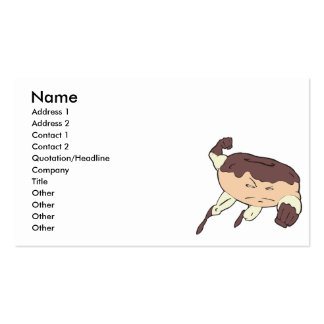 super hero strong donut character Double-Sided standard business cards (Pack of 100)
