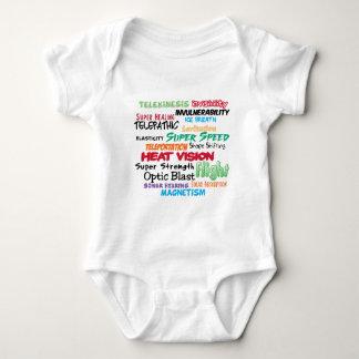 Super hero super powers baby bodysuit