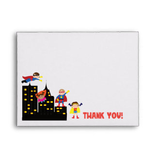 Super Hero Thank You Envelope