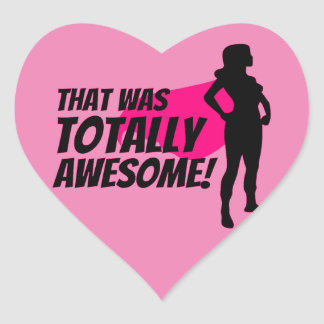 Super Hero Woman Power Heart Sticker