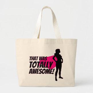 Super Hero Woman Power Large Tote Bag