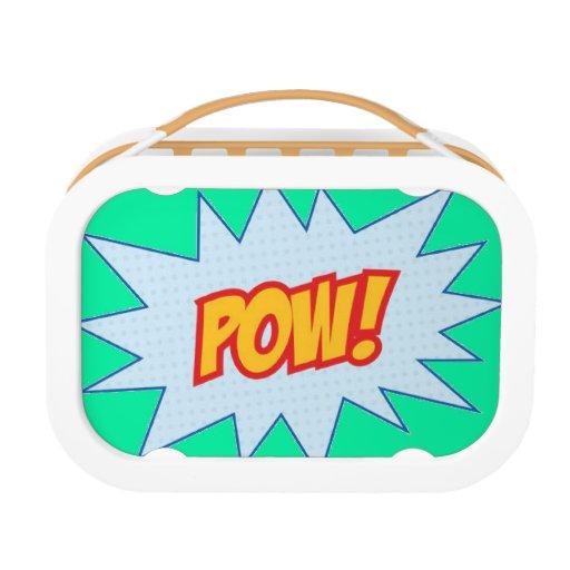 super hero word splat lunchbox zazzle