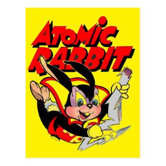 Super héroe animal peludo divertido del conejo postales