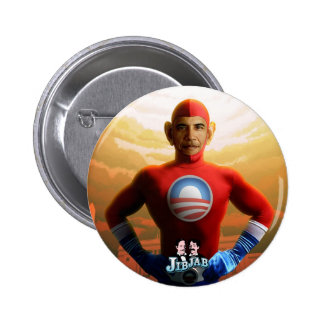 Super héroe de Barack Pin Redondo De 2 Pulgadas
