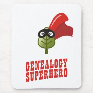 Super héroe de la genealogía mousepads
