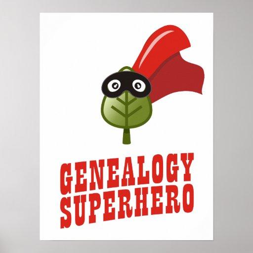 Super héroe de la genealogía póster