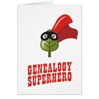 Super héroe de la genealogía tarjeta