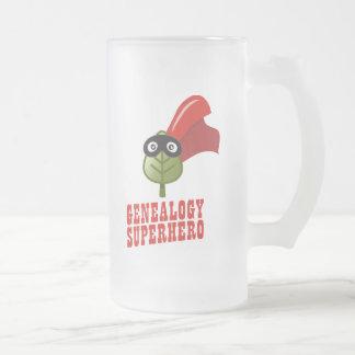 Super héroe de la genealogía taza de café