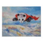 """Super héroe de la panda invitación 4.25"""" x 5.5"""""""