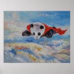 Super héroe de la panda póster