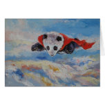 Super héroe de la panda tarjeta pequeña
