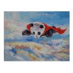Super héroe de la panda tarjeta postal