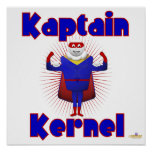 Super héroe de las palomitas del corazón de Kaptai Poster