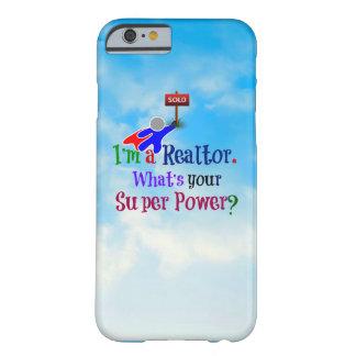 Super héroe del agente inmobiliario - humor funda barely there iPhone 6