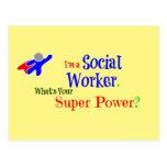 Super héroe del asistente social postales
