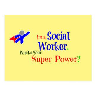 Super héroe del asistente social postal