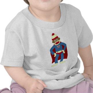 Super héroe del mono del calcetín camisetas