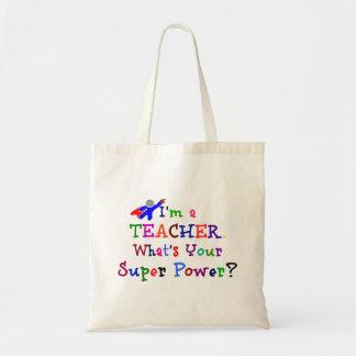 Super héroe del profesor bolsa tela barata
