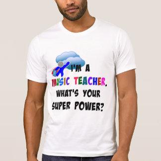 Super héroe del profesor de música poleras