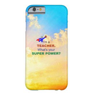 Super héroe del profesor - humor funda de iPhone 6 barely there