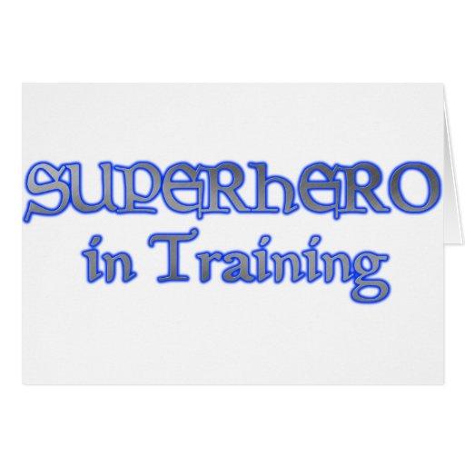 SUPER HÉROE en el entrenamiento Tarjeton