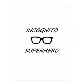 Super héroe incógnito 01B Postal