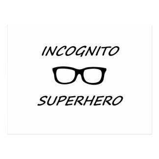 Super héroe incógnito 01B Postales