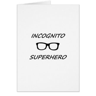 Super héroe incógnito 01B Tarjeta De Felicitación