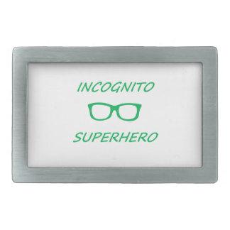 Super héroe incógnito 01G Hebilla Cinturon Rectangular