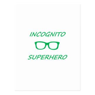 Super héroe incógnito 01G Postal