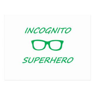 Super héroe incógnito 01G Tarjetas Postales