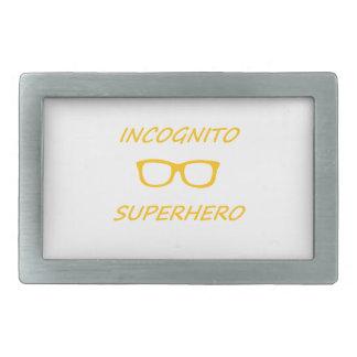 Super héroe incógnito 01O Hebillas De Cinturon Rectangulares