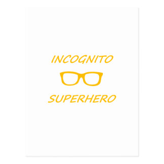 Super héroe incógnito 01O Postales