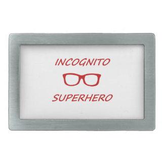 Super héroe incógnito 01R Hebillas Cinturón Rectangulares