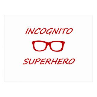 Super héroe incógnito 01R Postales