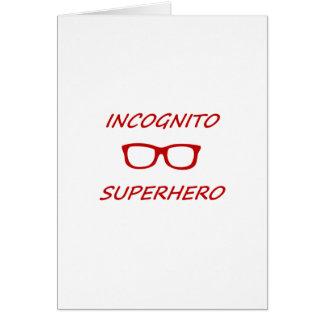 Super héroe incógnito 01R Tarjeta De Felicitación