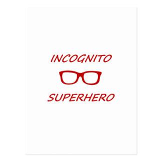 Super héroe incógnito 01R Tarjetas Postales