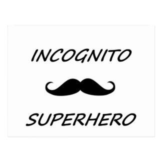 Super héroe incógnito 02B Tarjeta Postal