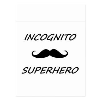 Super héroe incógnito 02B Tarjetas Postales