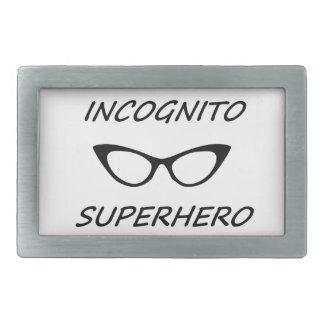 Super héroe incógnito 05B Hebillas Cinturon Rectangulares