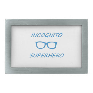 Super héroe incógnito 1BL Hebilla De Cinturón Rectangular
