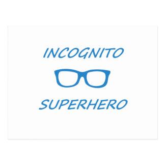 Super héroe incógnito 1BL Postales