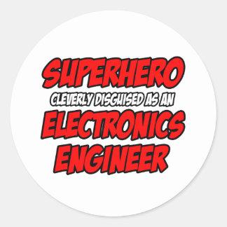 Super héroe Ingeniero electrónico Etiquetas