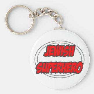 Super héroe judío llaveros