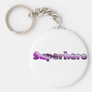 Super héroe llavero redondo tipo pin