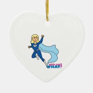 Super héroe - luz/Blonde Ornamento De Reyes Magos