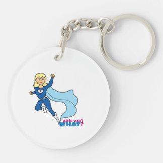 Super héroe - luz/Blonde Llaveros