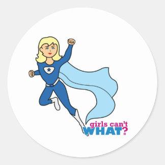 Super héroe - luz/Blonde Etiqueta Redonda